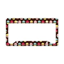 cupcake_pattern_toiletry_bag License Plate Holder
