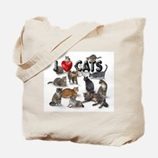 "Tote Bag ""I Love Cats"""