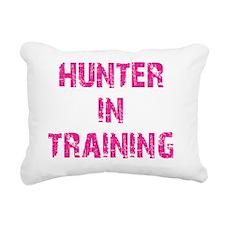 Hunter in training pink Rectangular Canvas Pillow