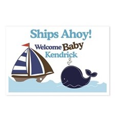 Ships Ahoy Baby Shower Si Postcards (Package of 8)