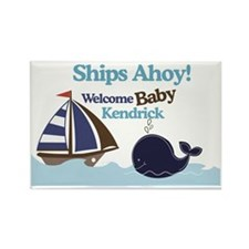 Ships Ahoy Baby Shower Sign Rectangle Magnet