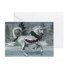 holidayunicorn2011CP Greeting Card