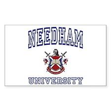 NEEDHAM University Rectangle Decal
