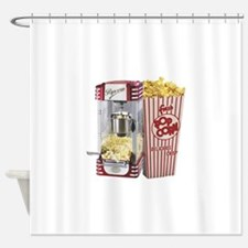 popcorn flip flops Shower Curtain