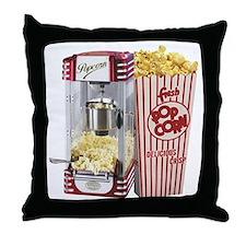 popcorn flip flops Throw Pillow