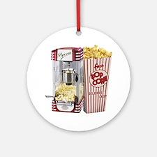 popcorn flip flops Round Ornament
