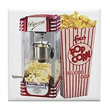 popcorn flip flops Tile Coaster