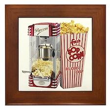 popcorn flip flops Framed Tile