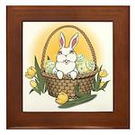 Happy Easter Bunny Gifts Framed Tile