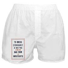 To dress extravagantly Boxer Shorts