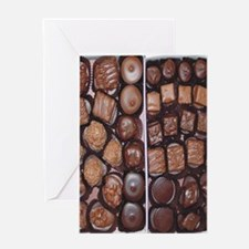 Chocolate Candy Flip Flops Greeting Card