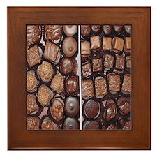 Chocolate Candy Flip Flops Framed Tile
