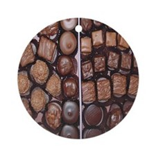 Chocolate Candy Flip Flops Round Ornament