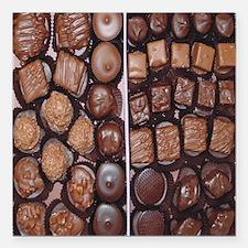 "Chocolate Candy Flip Flo Square Car Magnet 3"" x 3"""