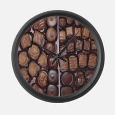 Chocolate Candy Flip Flops Large Wall Clock