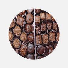 "Chocolate Candy Flip Flops 3.5"" Button"