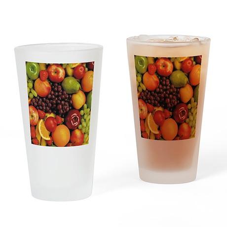Mixed Fruit Flip Flops Drinking Glass