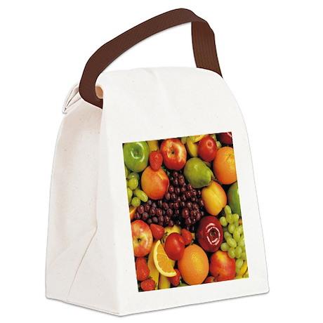 Mixed Fruit Flip Flops Canvas Lunch Bag