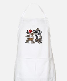 "BBQ Apron ""I Love Cats"""