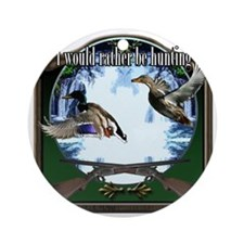 Duck hunter Round Ornament