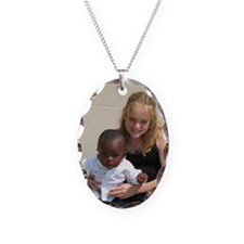 Avery and Garret Necklace Oval Charm
