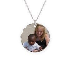 Avery and Garret Necklace Circle Charm