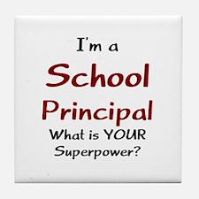 school principal Tile Coaster