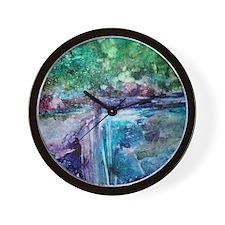 winter waterfall Wall Clock