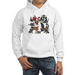 "Hooded Sweatshirt ""I Love Cats"""