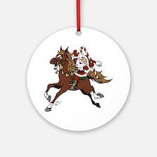 Happy Santa Round Ornament