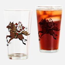 Happy Santa Drinking Glass
