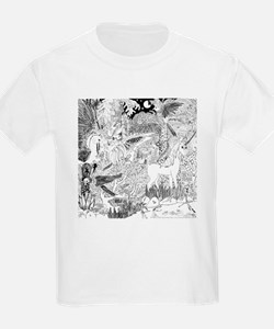Night Meeting with the Unicorn Kids T-Shirt