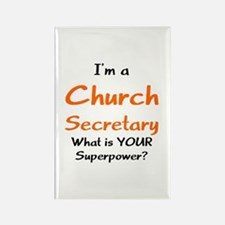church secretary Rectangle Magnet