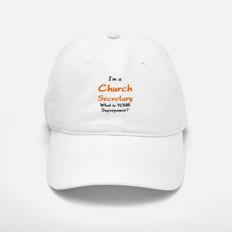 church secretary Baseball Baseball Cap