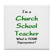 church school teacher Tile Coaster