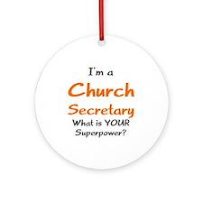 church secretary Ornament (Round)