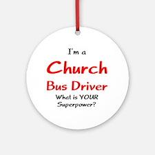 church bus driver Ornament (Round)