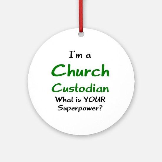 church custodian Ornament (Round)