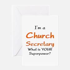 church secretary Greeting Card