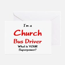 church bus driver Greeting Card
