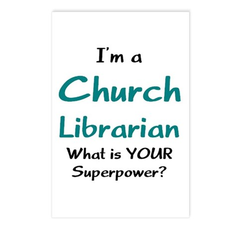 church librarian Postcards (Package of 8)