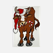 christmas-cow Rectangle Magnet