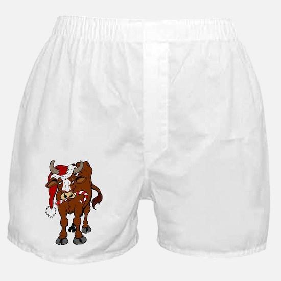 christmas-cow Boxer Shorts