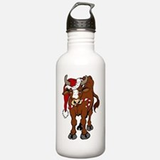 christmas-cow Water Bottle