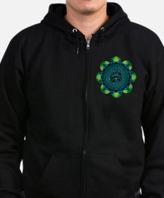 Peace Flower - Meditation Zip Hoodie (dark)