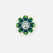 Peace Flower - Meditation Mini Button