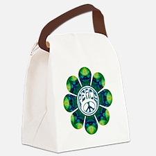 Peace Flower - Meditation Canvas Lunch Bag