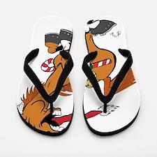 yeehaw-christmas Flip Flops