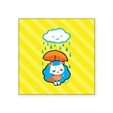"rainyday_notecards Square Sticker 3"" x 3"""