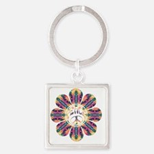 Peace Flower - Delight Square Keychain